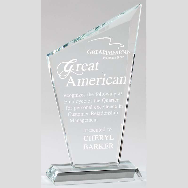 Crystal Award - Slanted Peak
